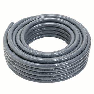 """Carlon 15011-100 Liquidtight Flexible Conduit, Non-Metallic, 2"""", Gray, 100' Reel"""