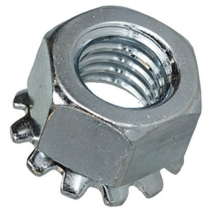 "Bizline 1420KNSS Kep Nut, 1/4"", Stainless Steel, 100/PK"