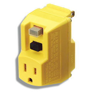 Coleman Cable 14650013-6 GFCI Portable Plug, Surge Protector, Yellow
