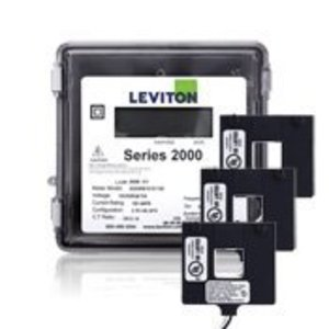 Leviton 2O208-4W LEVTION 2O208-4W 3PH 3R 4W400 AMP METER WITH SPLIT CT'S