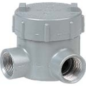 "Hubbell-Killark GESLT-4 Conduit Outlet Box, Type GESLT, (2) 1-1/4"" Hubs, Aluminum"