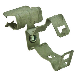 "Erico Caddy 812M58SM Flange Mount Conduit Clip, Type: Snap, 1/2 or 3/4"" Conduit, Steel"