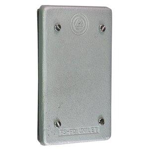 Appleton FSK-1B-CA Blank Cover, 1-Gang, Aluminum