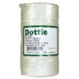 Dottie N36 Nylon fishing line with a center feed and fast payout can be pulled into the run and left to add future wires. Excellent resistance to rot, abrasion, mildew, marine growth, petroleum products and most chemicals.