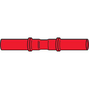Thomas & Betts RAA23 Aircraft Butt Connector, Nylon Insulated, 22 - 18 AWG, Red, Pack of 500