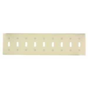 Leviton S603-I Toggle Wallplate, 9-Gang, Ivory Painted Steel