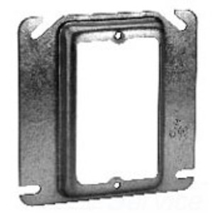 """Cooper Crouse-Hinds TP489 4"""" Square Cover, 5/8"""" Raised, 1-Device"""