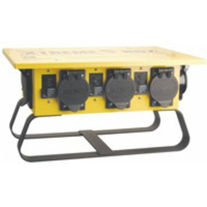 Coleman Cable 019603R02 Power Distribution Box, Portable, 50A Inlet, Twist Lock Receptacles