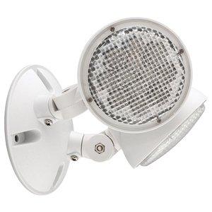 Hubbell-Dual-Lite CORD Emergency Light, LED, Remote, 2-Head, 1W, 3V, White