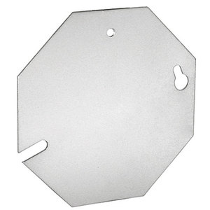 "Garvin Industries CBP-B 4-1/2"" Octagon Cover, Blank, Steel"