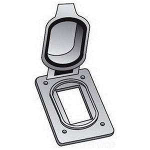 OZ Gedney FS-1-GFCA GFCI Cover, 1-Gang, Flip Cover, Aluminum