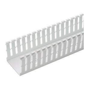 "Panduit F1.5X2WH6 Wiring Duct,  Narrow Slot, 1-1/2"" x 2"" x 6', PVC, White"