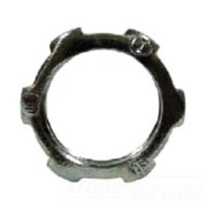 "Hubbell-Raco 1002 Conduit Locknut, 1/2"", Steel"