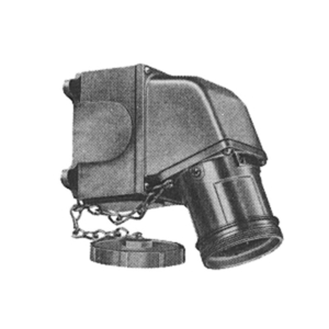 Russellstoll 8414 Pin and Sleeve Receptacle, Single - Angled, 60 Amp, 480 Volt