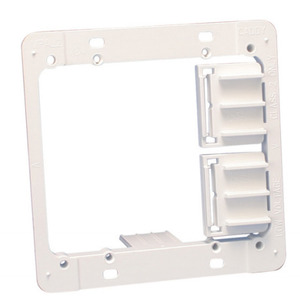 Erico Caddy MPAL2 Mounting Bracket, 2-Gang, Low Voltage, Depth: 1/4 - 1/1/4""