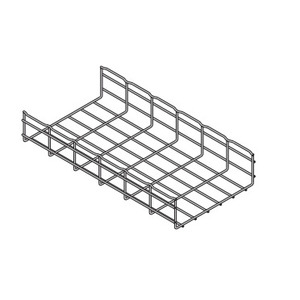 "Eaton B-Line FT4X4X10 Wire Basket Cable Tray, 4"" x 4"" x 10', Steel"