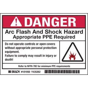 Brady 101951 Arc Flash/Shock Hazard Label