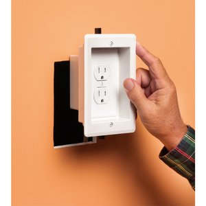 Arlington TVBRA1K KIT W/ 2 SINGLE GANG RECESSED BOXES