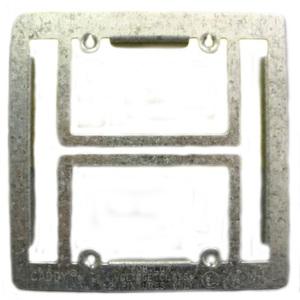 Erico Caddy MP2 Mounting Bracket, 2-Gang, Low Voltage, Metallic
