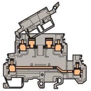 Entrelec 011560421 Fuse Holder Terminal Block, Type: M 4/8.D2.SF