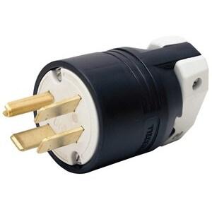 Hubbell-Kellems HBL8451C Straight Blade Plug, 50A, 3PH 250V, Nylon, Black
