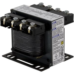 Square D 9070T50D40 Control Transformer, 50VA, Multi-Tap, Type T, 1PH, Open