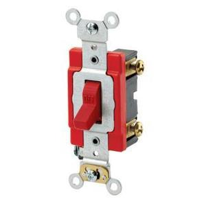 Leviton 1221-2R Single-Pole Toggle Switch, Red