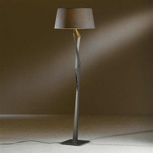 Hubbardton Forge 23-2850-18-683 Floor Lamp, 1 Light, 100W, Dark Smoke