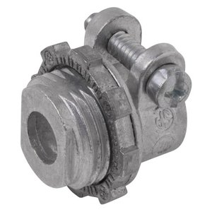 Thomas & Betts XC-401 Flex Connector, Squeeze, Straight, 1/2 Inch, Malleable Iron