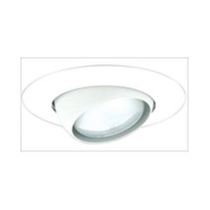 "Elco Lighting EL18W 8"" White Eyeball Lamp, PAR30-75W, R30-75W"