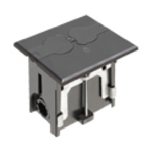 "Arlington FLBAF101BL Rectangular Floor Box Assembly, Adjustable, Depth: 4"", Non-Metallic"