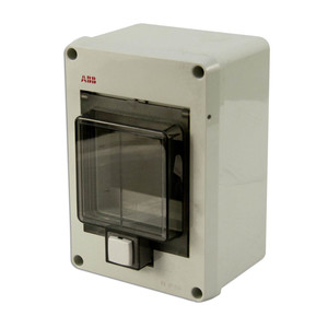 ABB 12644 Enclosure, Gray, Clear Cover, MS116