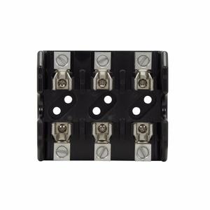 Eaton/Bussmann Series T60030-3CR Class T Fuse Block, 3-Pole, 1/2-30A, 600V, Box Lug Terminal w/Clip