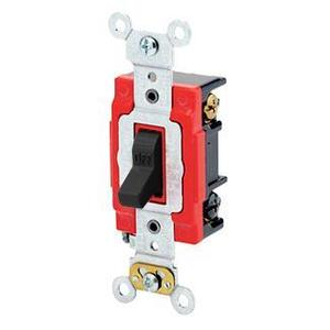 Leviton 1223-2E 3-Way Toggle Switch, 20A, 120/277V, Black, Industrial Grade
