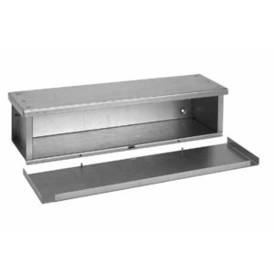 "Hoffman F121248RTGV Wiring Trough, Type 3R, Screw Cover, 12"" x 12"" x 48"", Galvanized, No KOs"