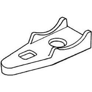 """Hubbell-Raco 1343 Clamp Back, EMT/Rigid, 3/4"""", Malleable Iron"""