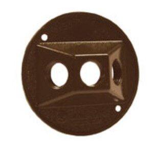 """Hubbell-Raco 5197-2 Weatherproof Round Cover, Diameter: 4-1/8"""", (3) 1/2"""" Hubs, Die Cast"""