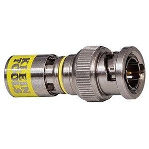 Klein VDV813-607 BNC Connector, Universal, Coaxial, Compression, RG6-R6Q, 10 Pack