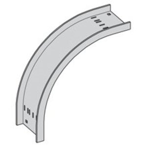 "Cooper B-Line ACC-04-90VO24 Vertical Outside 90° Bend, 24"" Radius, 4"" Wide, Aluminum"