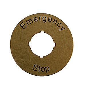 ABB CA6-1026 E-Stop Legend Plate
