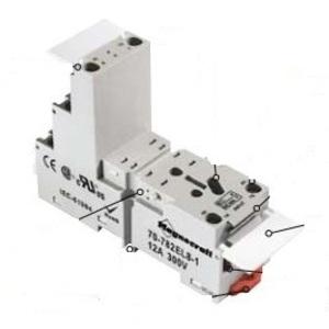 SE Relays 70-782EL8-1 Mounting Socket, 8 Blade, Screw Terminals, DIN Rail Mount