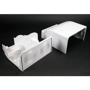 Wiremold 5410DFO-WH Radiused Divided Entrance End Cap / 5400 Series Raceway, White
