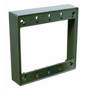 """Hubbell-Raco 5407-0 Weatherproof Box Extension. 2-Gang, 1"""" Deep, Die Cast"""