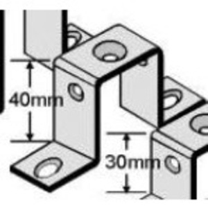 E-Rail BSB40 DIN Rail, Mounting Bracket, Straight, 40mm Height, 50 per Package