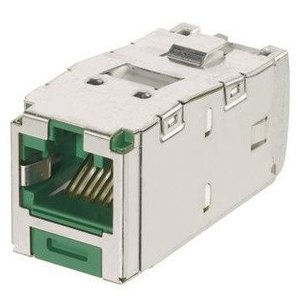 Panduit CJSK6X88TGGR Keyed Shielded Jack Module,  Category 6A, RJ45