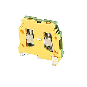 Entrelec 016511417 Terminal Block, Ground, 8mm, Type: 6/8.P, Green/Yellow