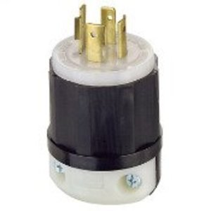 Leviton 2431 Locking Plug, 20A, 3PH 480V, 3P4W