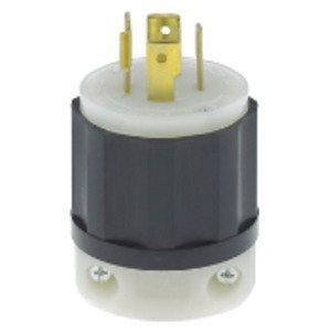 Leviton 2411 Locking Plug, 20A, 125/250V, L14-20P, 3P4W