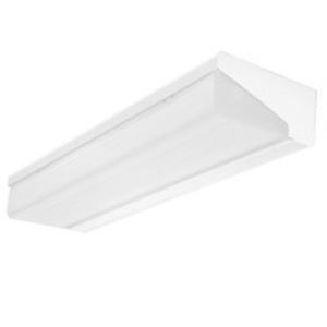 Lithonia Lighting WP232MVOLTGEB10IS Wall Bracket Fixture, 4', 2-Lamp, T8, 120/277V, 32W