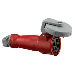 Hubbell-Wiring Kellems HBL4100C7W Pin & Sleeve Connector, Watertight, 100A, 3PH 480V, 3P4W, Red